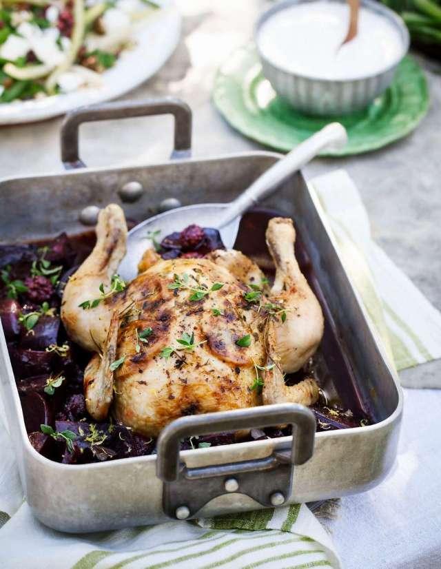 recept kyckling rödbetor